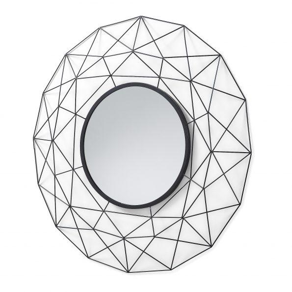 Ogledalo-HABITA-metalno-tamno-sivo