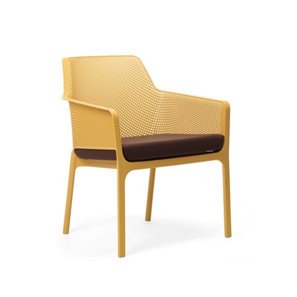 Jastuk za stolicu NET RELAX, smeđi