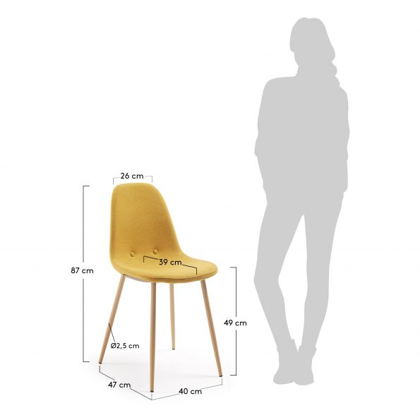 Stolica-LISSY-žuta-CC0273J81
