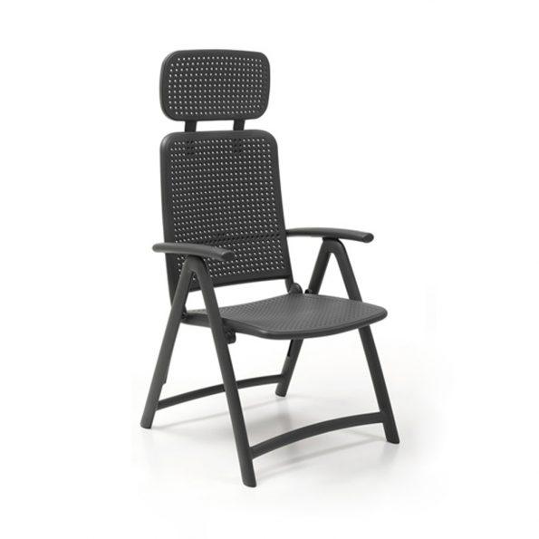 Stolica za terasu ACQUAMARINA, antracit