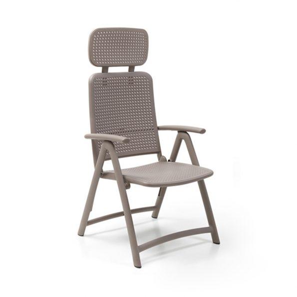 Stolica za terasu ACQUAMARINA, tortora