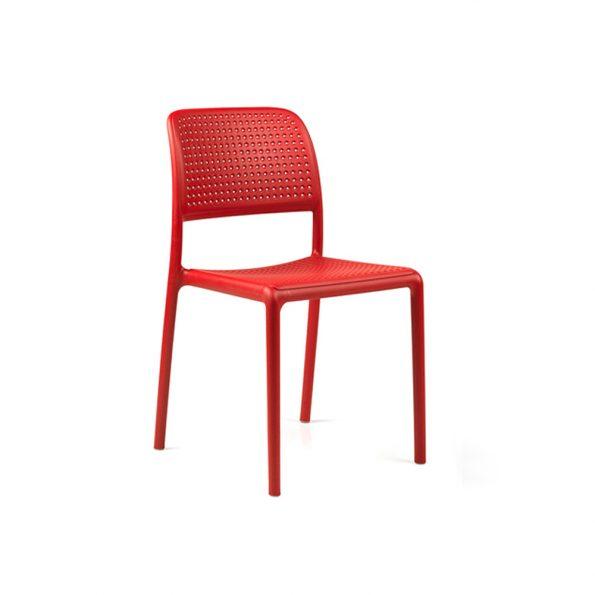 Stolica za terasu BORA BISTROT, crvena
