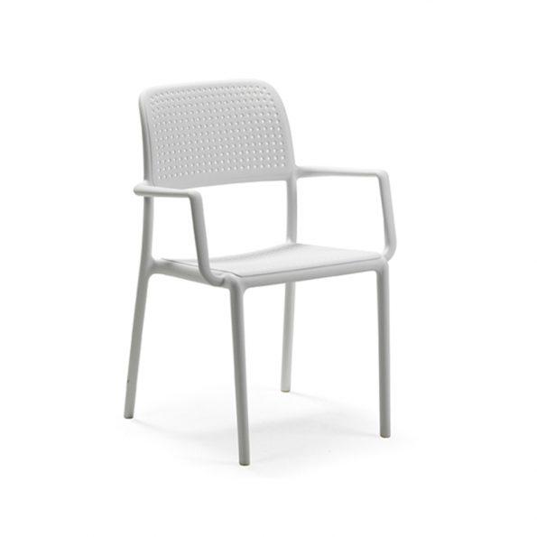 Stolica za terasu BORA, bijela