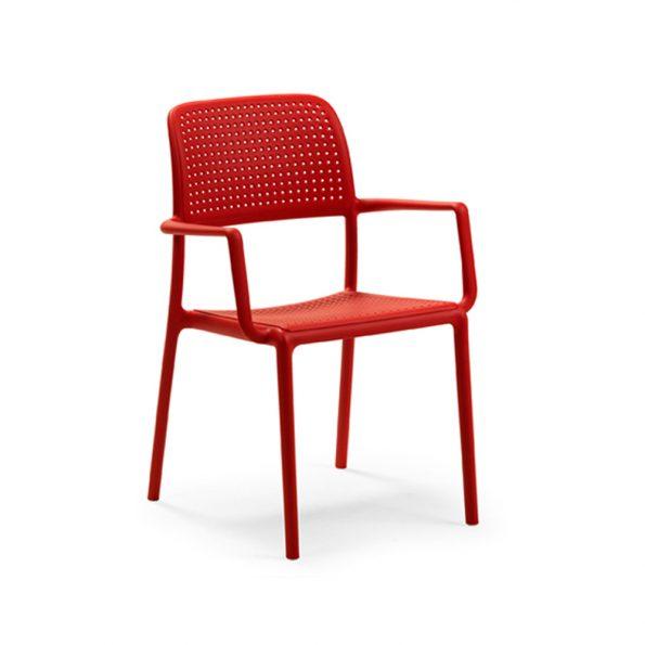 Stolica za terasu BORA, crvena