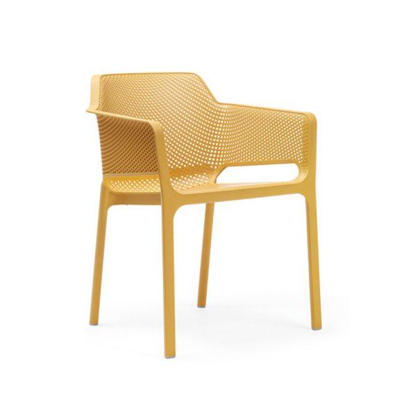 Stolica za terasu NET, žuta