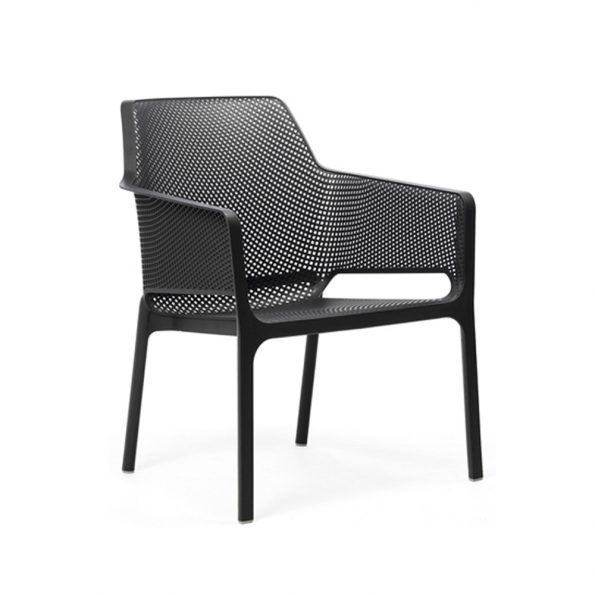 Stolica za terasu NET RELAX, antracit