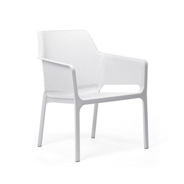 Stolica za terasu NET RELAX, bijela