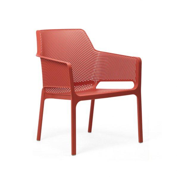 Stolica za terasu NET RELAX, koraljna