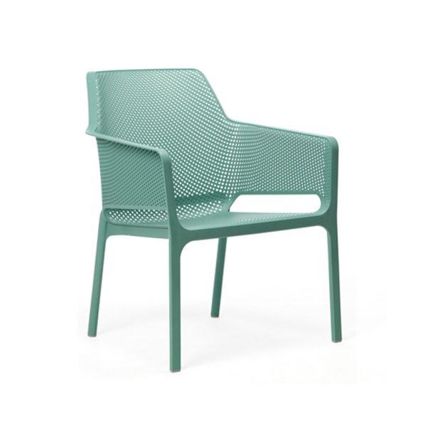 Stolica za terasu NET RELAX, zeleno plava