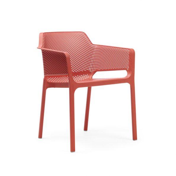 Stolica za terasu NET, koraljna