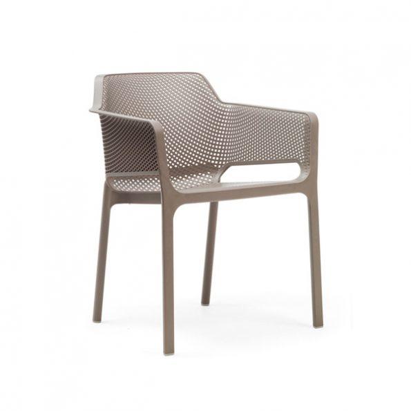 Stolica za terasu NET, tortora