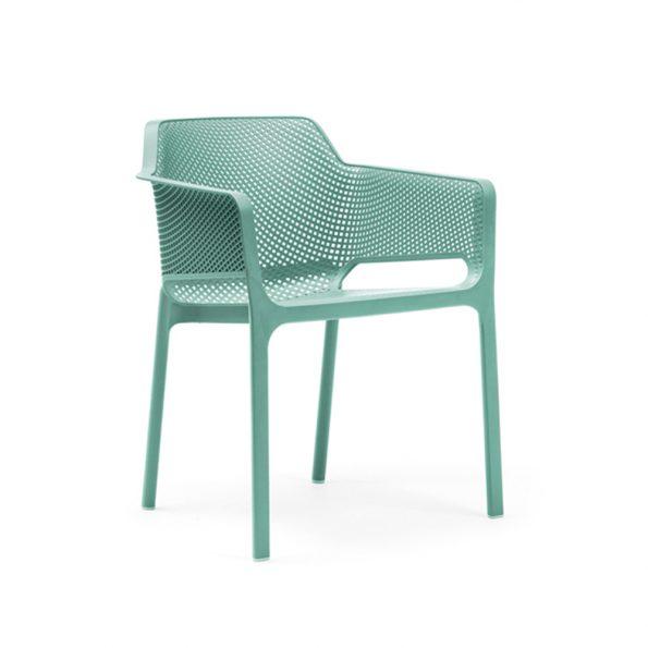 Stolica za terasu NET, zeleno plava