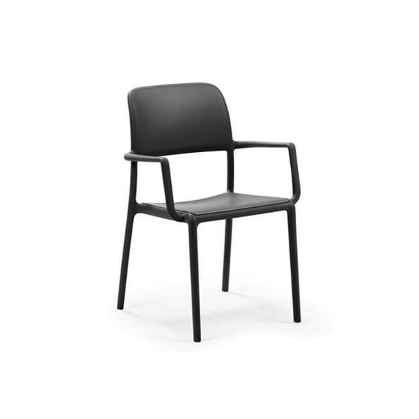 Stolica za terasu RIVA, antracit
