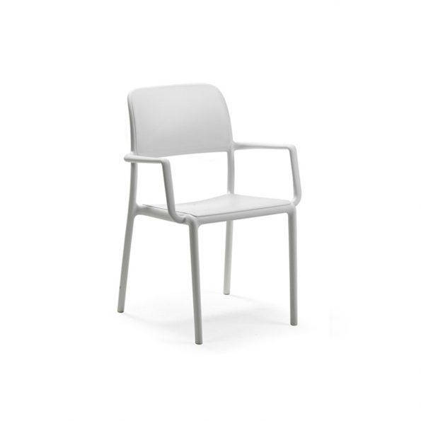 Stolica za terasu RIVA, bijela