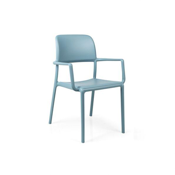 Stolica za terasu RIVA, celeste