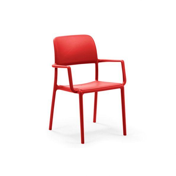 Stolica za terasu RIVA, crvena
