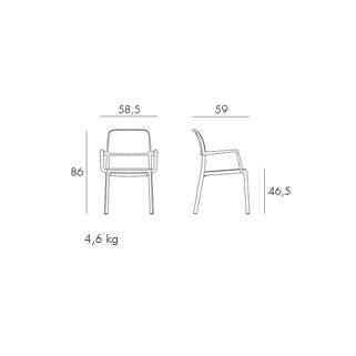 Stolica za terasu RIVA, skica