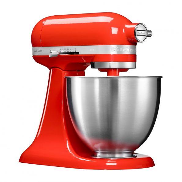 KitchenAid 3.3 L samostojeći mikser Artisan Mini Hot Sauce red