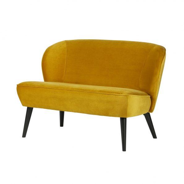 Sofa SARA, velvet ochre